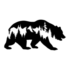 2.png Download STL file Bear Panel 2D Design • 3D print template, saracokan