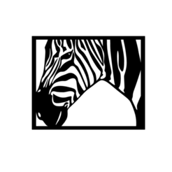 2.png Download STL file Zebra 2D Wall Art  • 3D printer model, saracokan