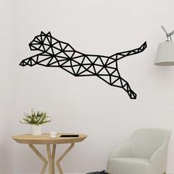 sample.jpg Download STL file Tiger Jumping Polygonal Wall Art • Design to 3D print, saracokan