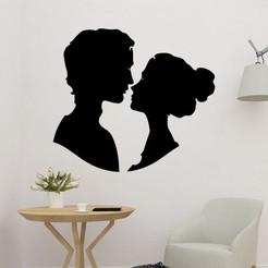 sample.jpg Télécharger fichier STL Silhouette du mur des rencontres de couples • Design imprimable en 3D, saracokan