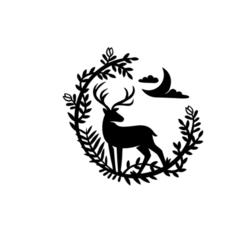 2.png Download STL file Deer And Flower Decor • 3D printer template, saracokan