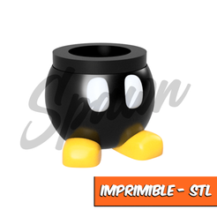 1.png Download STL file Mate Bomb Omb Mario Bros • Object to 3D print, 6seis6