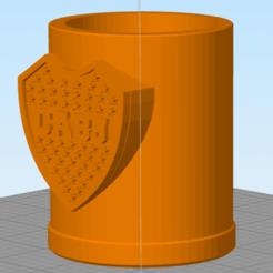 Boca.png Télécharger fichier STL Mate Boca Juniors • Design imprimable en 3D, nestor-herrera95