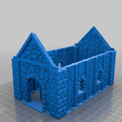 13b8fd3b506dc68e9b8afe76a0723463.png Download free STL file Medieval Cottage with working Door 28mm • Object to 3D print, Code2