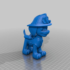 "Marshall_no_arm.png Download free STL file Marshall Remix no ""Arm"" • 3D print template, eckhartselektronik"