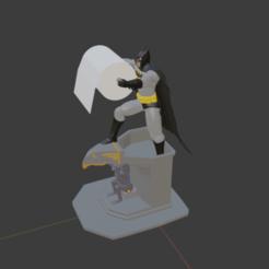 batman.png Télécharger fichier STL Porte-papier hygiénique Batman. • Plan pour impression 3D, jwf_12