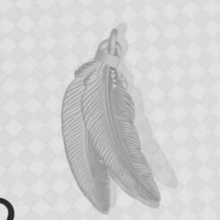 Feathers.JPG Download free STL file 28mm Feather Decoration • 3D printable model, yousurper