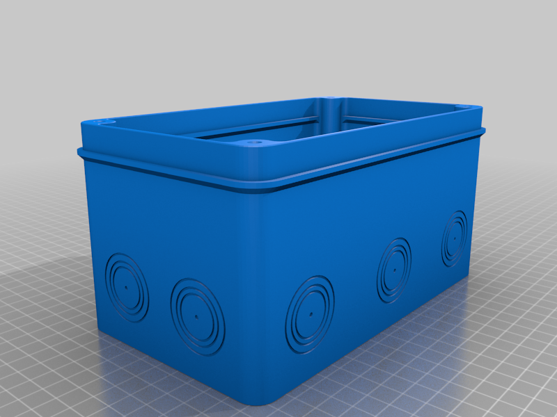 Test_electrobox_110x190_Base.png Download free STL file Electronics junction, switch or utility box 110x190x150 • 3D printing design, AcE-Craft