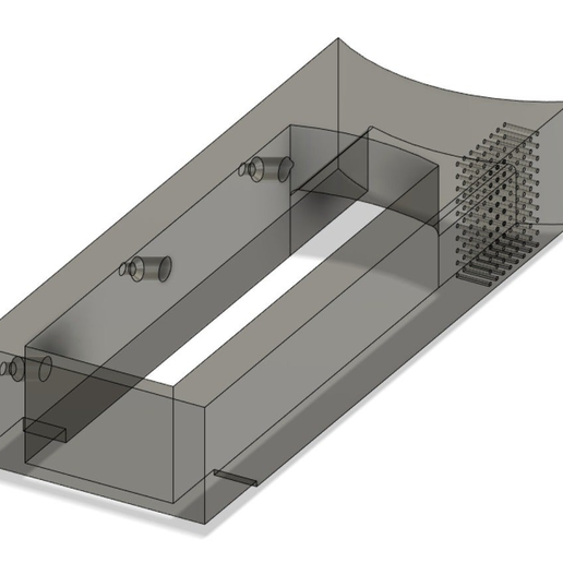 Fusion_pic.PNG Download free STL file Blinds Frame for Window with air vents • 3D printer design, AcE-Craft