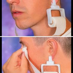 121569879_2483528308607304_3134934796432923340_o.jpg Download free STL file Hygienic Paper ear pendant • Template to 3D print, urra_aldunate