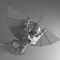 FLYING AANG.jpg Download STL file Flying AANG The Last Airbender with Glider • 3D printing template, Griscatrina3D