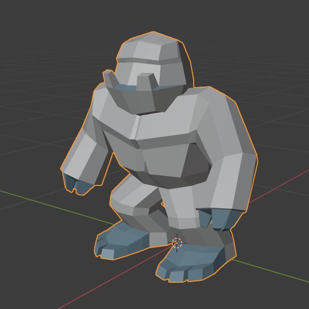 yetiBlender1sq.png Download free STL file Low poly Yeti / Bigfoot • 3D printable object, Perplex_3D