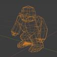 yetiBlender2sq.png Download free STL file Low poly Yeti / Bigfoot • 3D printable object, Perplex_3D