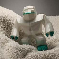 Télécharger objet 3D gratuit Faible taux de poly Yéti / Bigfoot, Perplex_3D