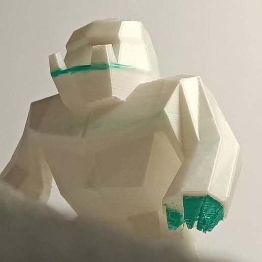 IMG20200710184619.jpg Download free STL file Low poly Yeti / Bigfoot • 3D printable object, Perplex_3D