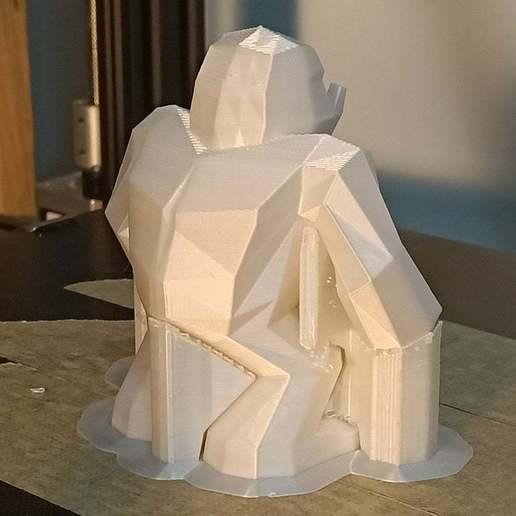 IMG20200608025800_1.jpg Download free STL file Low poly Yeti / Bigfoot • 3D printable object, Perplex_3D