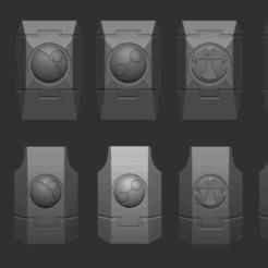 shoulders.JPG Télécharger fichier STL Épaulettes 40k Tau Sept • Plan pour impression 3D, toasty