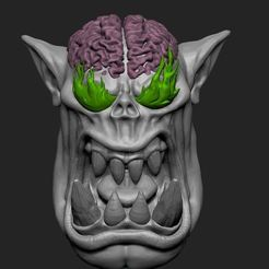 burning eyes.JPG Download STL file Ork weirdboy conversion  • Object to 3D print, toasty