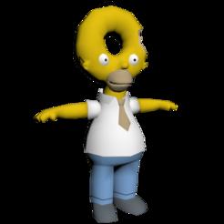 Download 3D printing models homer donuts, molfilm