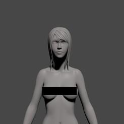 Download 3D printer templates Realistic female figure 3d model- base mesh, sublim