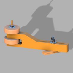 Assembled Roller Hold-Down v11.png Download free STL file Roller Hold Down • 3D printing design, Perkinje
