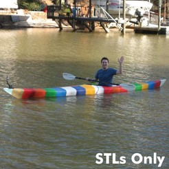Download STL file World's First 3D Printed Kayak [STLs Only] • 3D printer object, GrassRootsEng