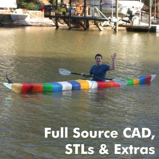 Download STL file World's First 3D Printed Kayak [Full Source CAD, STLs & Extras] • 3D printing design, GrassRootsEng