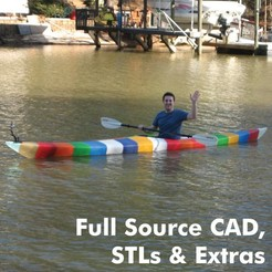 Download STL file World's First 3D Printed Kayak [Full Source CAD, STLs & Extras] • 3D printing design, GrassRootsEng