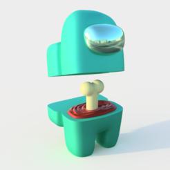 amongus_visor 2.png Download STL file Among us dead model for 3D printing • 3D print template, joz9982