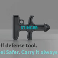 container_stinger-keychain-self-defense-tool-3d-printing-198732.png Télécharger fichier STL Porte-clé Stinger, outil d'autodéfense • Objet pour impression 3D, joz9982