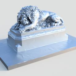 lion.png Download OBJ file Lion of Aspern Polygonal • 3D printing object, joz9982