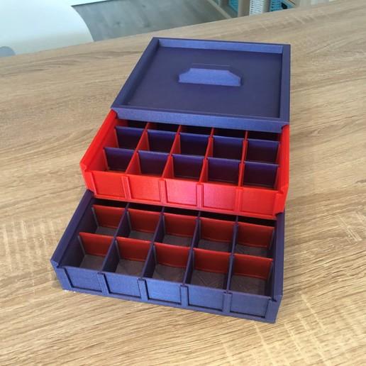 Télécharger fichier STL gratuit Rangement pour résistances et autres composants • Design imprimable en 3D, Heliox