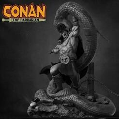 131038581_4126148434067555_2504193182717799864_n.jpg Download STL file Conan the Barbarian • 3D printable object, ivangarciag_3D