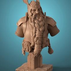 Descargar modelos 3D para imprimir Dwarf Bust, ivangarciag_3D