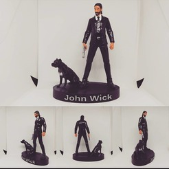 1.jpg Download STL file John Wick from Fortnite 3D Model 3D print model • 3D printable template, 3dworldtr