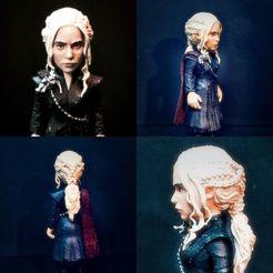 1.jpg Télécharger fichier STL Game of Thrones - Modèle d'impression 3D de Daenerys Targaryen • Design à imprimer en 3D, 3dworldtr