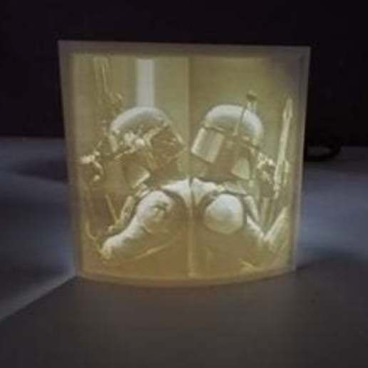 Télécharger fichier STL gratuit Lithophane Boba & Jango Fett • Plan pour impression 3D, kronanworkshop