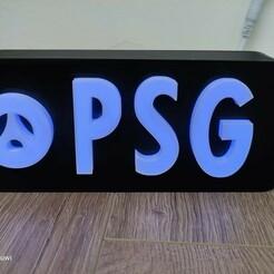 138138198_417375536353629_5318347059060009368_n.jpg Télécharger fichier STL Boite PSG box light lumiere effet neon • Plan à imprimer en 3D, Douwi76