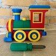 Télécharger fichier STL Jeu de construction de locomotives de train miniature • Plan imprimable en 3D, filipskott