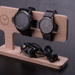 Download free STL file Watch Stand, CNC-Woodworking