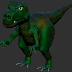 T-Rex_Cartoon.jpg Download STL file T-Rex Cartoon • 3D print template, JMBM512