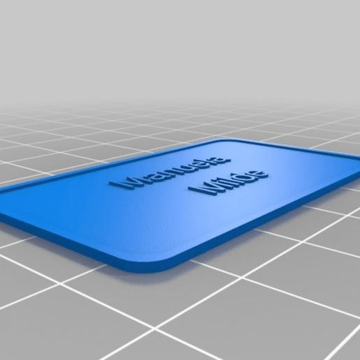 Download free 3D printing files Manuela Milde, be-ne