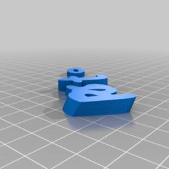 Download free 3D printer templates My Customized iamburny's v2  Text - Name Keyring / Keyfob, be-ne