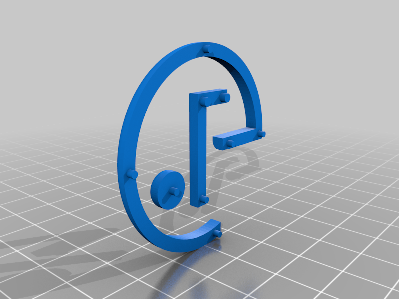 LG_LOGO_with_pins.png Download free STL file TV REMOTE STAND • 3D printing template, B3_3DTECH
