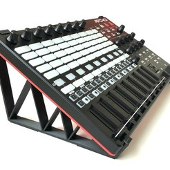 AkaiApc40Mk2_30deg_stand_main.jpg Télécharger fichier STL AKAI APC40 MKII Stand - 30 degrés • Modèle à imprimer en 3D, AOMUS