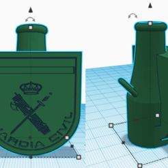 guardia civil.png Download STL file Guardia Civil bong mouthpiece • 3D printing object, rcarrasquel88