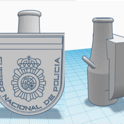 boquilla policia nacional.png Download STL file Bong Mouthpiece National Police • 3D print object, rcarrasquel88