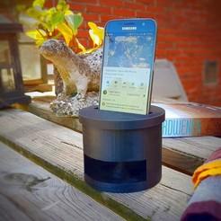 speaker-in-action.jpg Download STL file Phone Speaker Stand  • 3D printable model, jaap1917