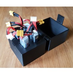 1-lipo-storage.jpg Download free STL file Battery storage 4x 300mw 3S Lipo • 3D printable template, jaap1917