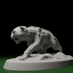 CatRun01.jpg Download STL file SWAMPS OF MORDHELL - Cat sitting and Cat running • 3D print template, TeamSausageDesign